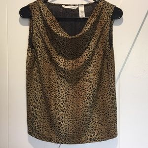 French Laundry Animal Print Top